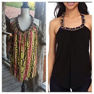 T-BAGS Chain Link Halter Top